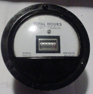NOS Marion Elec NM3ET Industrial Sealed Total Hours Panel Meter 220 VAC 5 Diget
