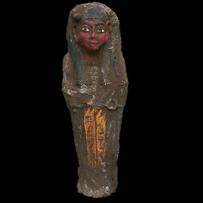 Egyptian Hieroglyphic Shabti, Late Period 664 - 332 Bc (8) Large !!!!