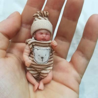 Ooak polymer clay baby 6.50cm 2,55in
