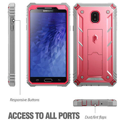 "For Samsung Galaxy J7 V Case Poetic ""Shockproof"" TPU Cover【Revolution】Pink"