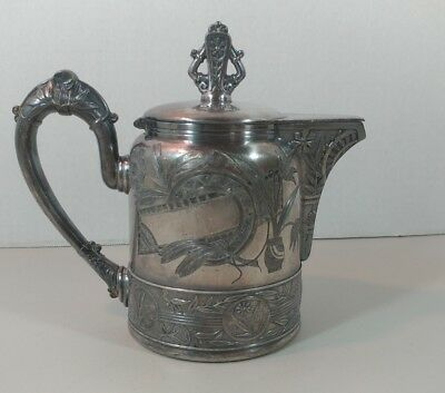Antique Silverplate lidded Creamer English Victorian Aesthetic by Pairpoint
