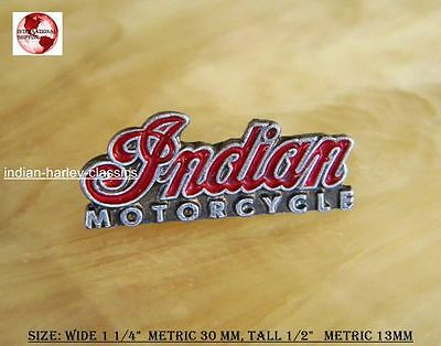 Indian Motorcycle Script Vest Lapel Pin Fits For Chief & Scout Rider Roadmaster
