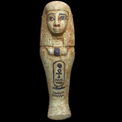 Egyptian Hieroglyphic Shabti, Late Period 664 - 332 Bc (9) Large !!!!