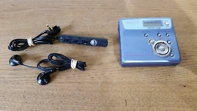 Sony MZ-N505 Personal Minidisc Recorder/Player with Remote, Headphones Grade B