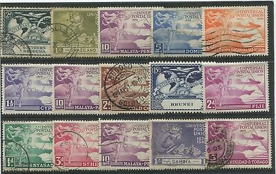"COMMONWEALTH - 15 stamps of the 1949 "" ANNIVERSARY of the U. P. U.  "" ."