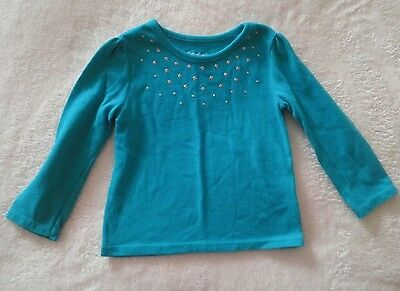 Garanimals Teal With Silver Sparkles Top Girls Size 18 Months