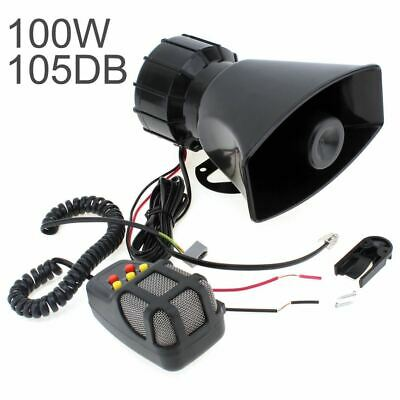 DC 12V 100W Motorcycle Car Auto Vehicle Truck 5 Sound Tone Loud Horn Siren Polic