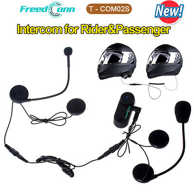 Motorcycle T-COM02S Motorcycle Helmet Bluetooth Headset Interphone Speaker Mic