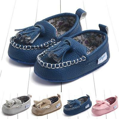 2017 Newborn Infant Baby Double Soft Sole Leather Single Casual Flats Shoes