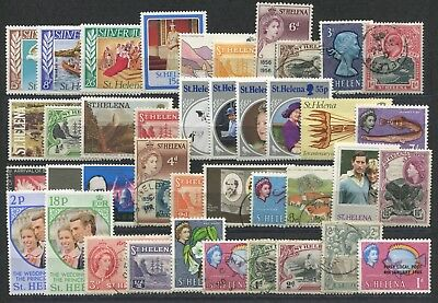 """ST.  HELENA  -  40  Stamps  """"  ALL  DIFFERENT  """" ."""