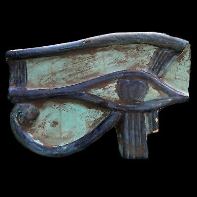 Beautiful Ancient Egyptian Eye Of Horus Plaque 300 Bc (3) Large !!!!!