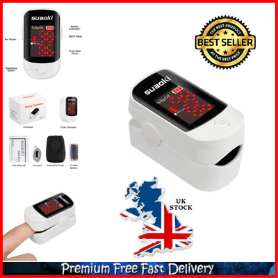 Finger Pulse Blood Oxygen SpO2 Oximeter Reader Monitor With LED Screen And Case