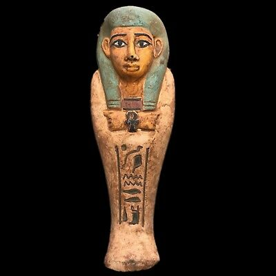 Egyptian Hieroglyphic Shabti, Late Period 664 - 332 Bc (10) Large !!!!
