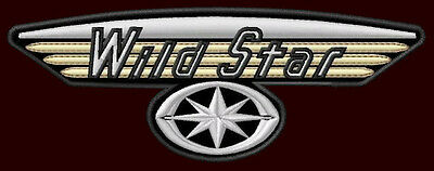 """YAMAHA WILD STAR EMBROIDERED PATCH ~5-1/2"""" x 2-1/8"""" XV 1600 MOTORCYCLE CRUISER"""
