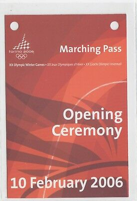 Marching Pass, Opening Ceremony, XX Olympic Winter Games Torino 2006