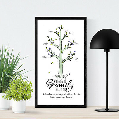 Personalised Family Tree Anniversary Mum Dad Custom Paper Print Gift pp39