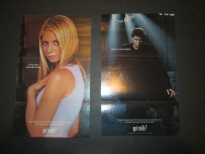 """""""Buffy the Vampire Slayer"""" and """"Angel"""" Got Milk Promo TV Guide posters."""