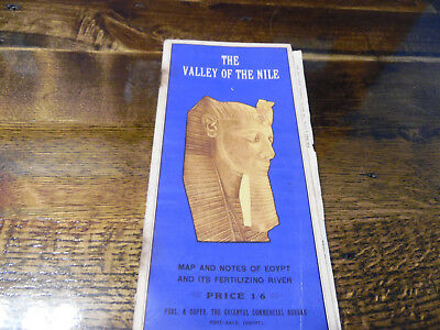 The Valley Of The Nile, Egypt, Book & Map, English, French & German