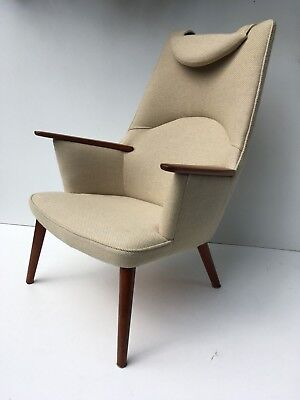 Authentic Hans Wegner AP 27 Teak Lounge Easy Chair for AP Stolen Danish Modern