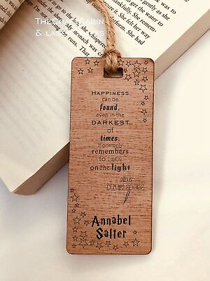 Harry Potter Quote. Personalised Engraved Wooden Bookmark, Boys, Girls, Gift,