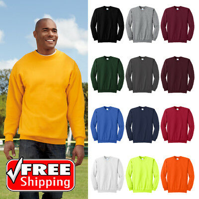 Tall Essential Fleece Crewneck Warm Pullover Relaxed Fit Sweatshirt PC90T