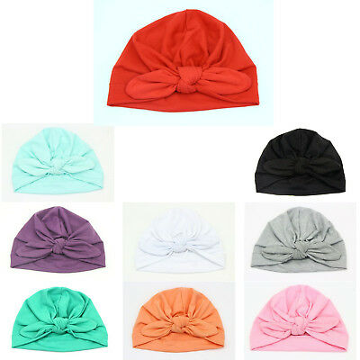 Head wraps Super Cute Adorable Soft Round Knot Full Cotton Turban For Baby Girls