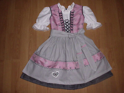 "NEU   festliches   Kinder Dirndl  gr. 110/116        ""MADE WITH LOVE"""