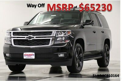 Chevrolet Tahoe MSRP$65230 4X4 LT Midnight Edition Leather GPS 4WD New Navigation Heated Black Seats Camera 8 Passenger Bench 17 2017 18 Bluetooth