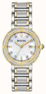 Bulova 98R260 Women's 30mm Quartz Diamond Accent Two-Tone Watch Pre-Owend