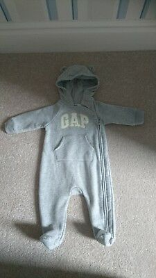 Baby Boys Gap all in one 3-6 months.  Grey with Gap motif.  New without tags