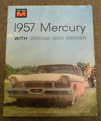 "Original 1957 Mercury Sales Folder With Dream Car Design ~ 25.5"" By 23.5"" ~ M57F"