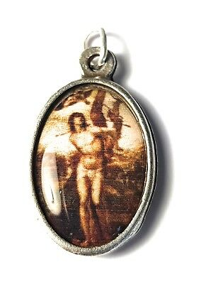 "St Sebastian relic 1"" medal of patron Soldiers athletes holy Christian death"