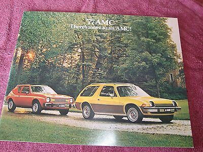 Original 1977 77 Amc Showroom Sales Brochure Gremlin  Matador  Hornet  Pacer