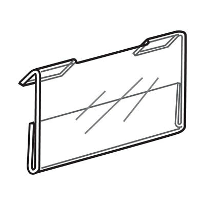 Set Of 6 Clear Acrylic Lucite Slatwall Store Display Signs