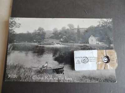 cleeve mill on the  river avon  postcard man rowing real photograph  p/u 1934
