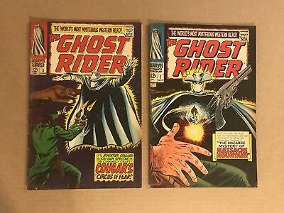 Ghost Rider #3 & #7 Silver Age Comic Lot Ayers Trimpe Carter Slade Nice Books