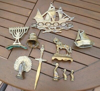 Joblot Collection of Antique/Vintage Brass Items and Curios