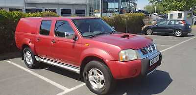 Rare Red Nissan Navara 2.5L Ddti 2003 With Recon Engine Fitted & 1 Year Mot