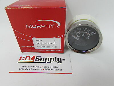 New Murphy 300 Degree Electric Temperature Gauge Egs21T-300-12 10-70-1304