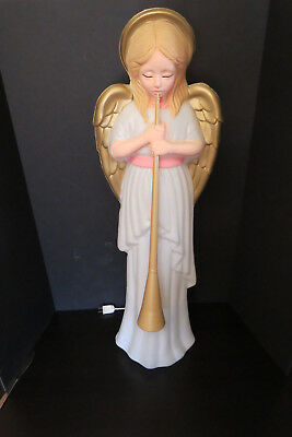 "Vintage Lighted Angel With Horn 34"" Blow Mold,christmas,lawn/yard/decoration"