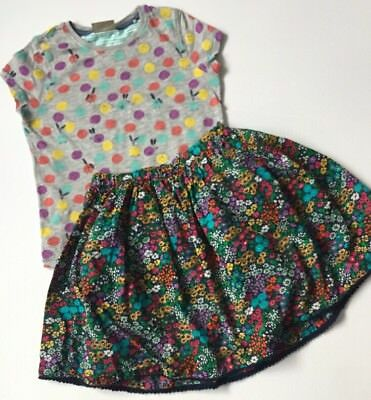 Next Small Bundle Outfit Top And Floral Print Skirt Age 5-6 Years