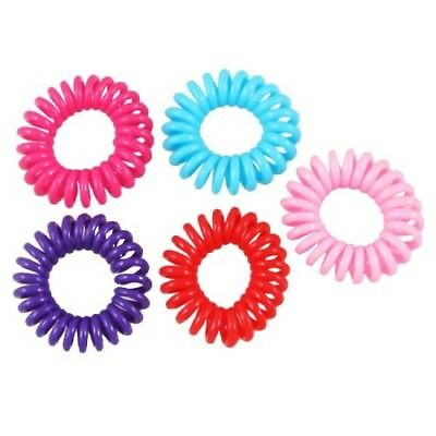 Bluecell Pack of 6 Plastic Coil Wrist Band Key Ring Chain for Outdoor Sport