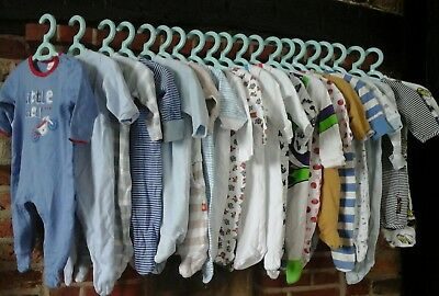 baby boy clothes bundle 0-3 months,Babygrows,Mothercare, Baby K,Blue Zoo 20 item