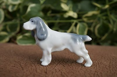 VTG Metzler Ortloff GERMANY Porcelain ENGLISH SPRINGER SPANIEL Dog Cocker M&O