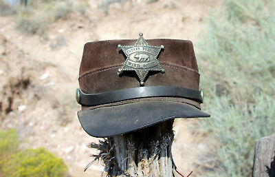 Vintage and used Wind River Indian Police Leather Cap/Kepi from Wyoming