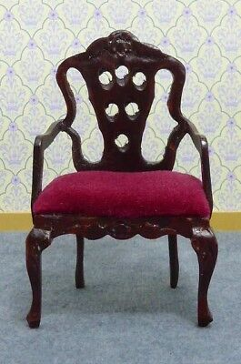 Dolls House Miniature 1:12 Scale Furniture Hand Made Artisan Arm Chair