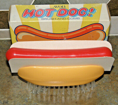 NEW Avon Vintage Children's Hot Dog! Novelty Brush and Comb Set NOS in Box