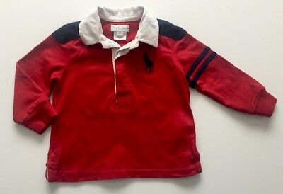 Ralph Lauren Red Long Sleeve Polo Shirt Age 9 Months Baby Boys