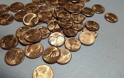 1958 P Roll of Lincoln Wheat Cents Uncirculated Pennies 50 BU