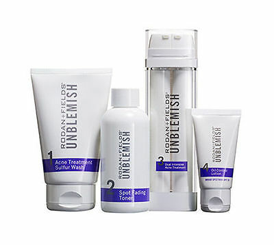 Rodan + Fields Unblemish Regimen for Acne and Post-Acne Marks Kit with Spot Fad…